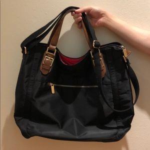 Banana Republic Black Nylon Tote Bag